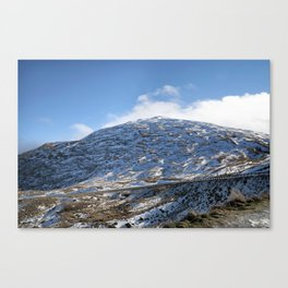 The Drive to Cardrona Ski Fields from Queenstown, New Zealand Canvas Print