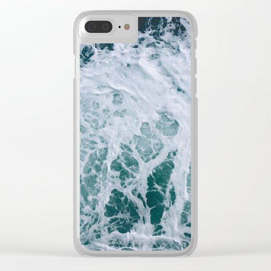 Sea Foam Clear iPhone Case