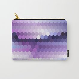 Lila hexagons Carry-All Pouch