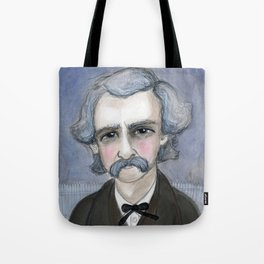 The Adventures of Mark Twain, A Victorian Writers Portrait Tote Bag