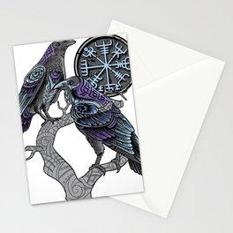 Odin's ravens Shirt viking celtic Huginn Muninn Stationery Cards