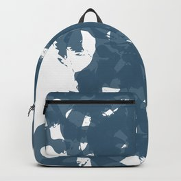 Navy Blue - Watercolor Brush Strokes on Paper Backpack