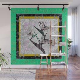 Lush Green Tropical Garden Boho Print Wall Mural