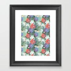 frog garden Framed Art Print