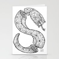 snake Stationery Cards featuring SNAKE by JustJustin