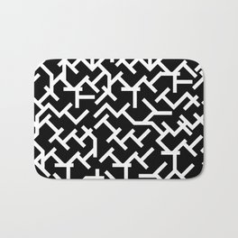 Geometric Labyrinth Bath Mat