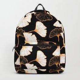 Ginkgo Leaf (Golden Calico) - Black Backpack