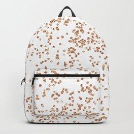 Rose gold glitter confetti on transparent background Backpack