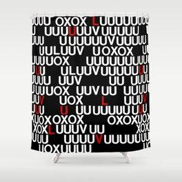 LUV U Shower Curtain