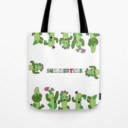 Cactus Family (colour version) Tote Bag