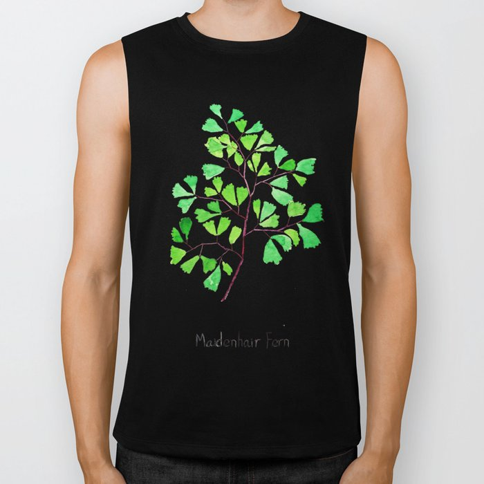 Maiden hair fern Biker Tank