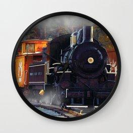 The Rail Yard  -  Steam Train Wall Clock