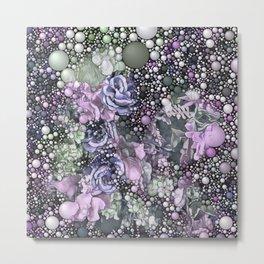 Bubble Flower Mix 2 Metal Print