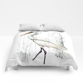 Mr Kotuku , New Zealand White Heron Comforters