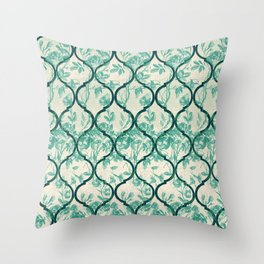 Vintage Garden Gate Ornament Throw Pillow