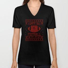 Tampa Bay Football Fan Gift Present Idea Unisex V-Neck