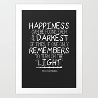 dumbledore Art Prints featuring Dumbleism - Dumbledore Quote 2 by Teacuppiranha