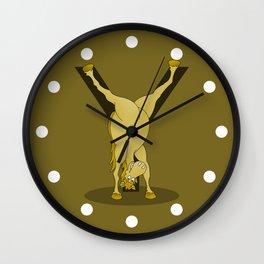 Monogram Y Pony Wall Clock