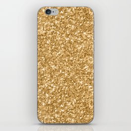 Trendy Gold Glitter Texture Print iPhone Skin