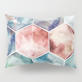Earth and Sky Hexagon Watercolor Pillow Sham
