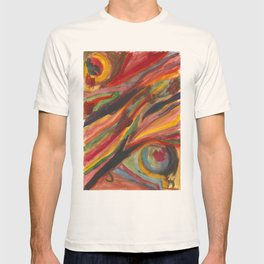 Retro swirl T-shirt