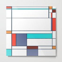Mondrian print design Metal Print