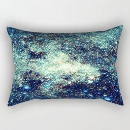 gAlAxY Stars Teal Turquoise Blue Rectangular Pillow