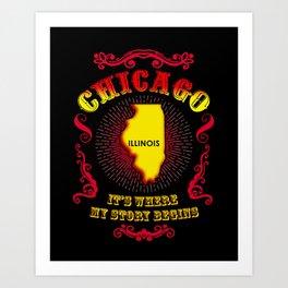 Chicago Story Art Print