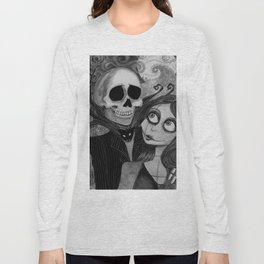 Jack and Sally Nightmare before Christmas Long Sleeve T-shirt