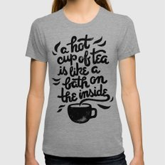 Hot Tea Womens Fitted Tee X-LARGE Tri-Grey