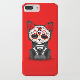 Cute Red Day of the Dead Kitten Cat iPhone Case