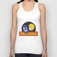 pac man Tank Tops featuring pac-man by Jung Imjen