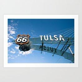 Route 66 Tulsa Vintage Street Art Art Print