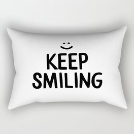 Keep Smiling Happiness Quote Rectangular Pillow