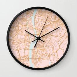Cairo map, Egypt Wall Clock