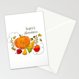 Season's Abundance! Stationery Cards