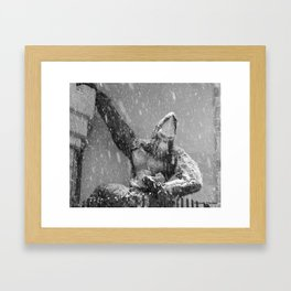 snow monster Framed Art Print