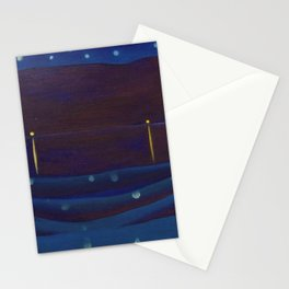 Starlight Night, Lake George, New York landscape painting by Georgia O'Keeffe Stationery Cards