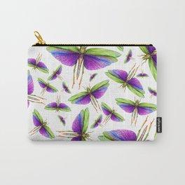 Titanacris albipes- Purple Winged Grasshopper Carry-All Pouch