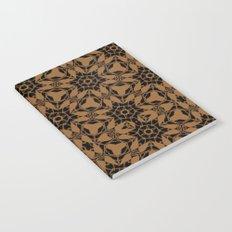 Black and Bronze Petals 2676 Notebook