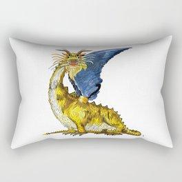 Dragons/Gold Dragon Rectangular Pillow