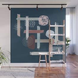 The Abstract Blue Wall Mural