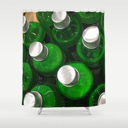 Drink Green. Fashion Textures Shower Curtain