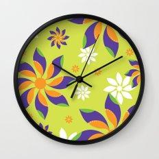 Flowerswirl Wall Clock
