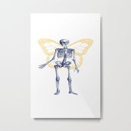 Skeleton Fairy Metal Print