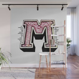 The Letter M Wall Mural