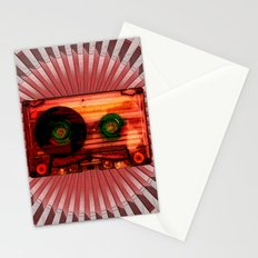FUNKY VINTAGE AUDIOTAPE Stationery Cards