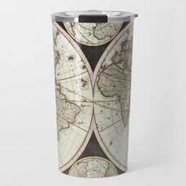 Vintage map of the World 1696 Travel Mug