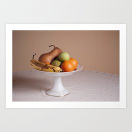 Fruits in a bowl Art Print