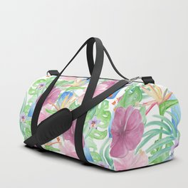 Malia's Tropical Print Duffle Bag